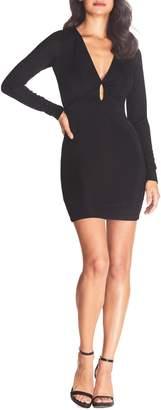Dress the Population Cosmopolitan Amari Long Sleeve Keyhole Body-Con Dress
