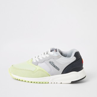 Ellesse River Island Womens NYC84 Grey and green trainers