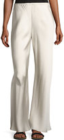 The Row Gala Straight-Leg Pants, Light Gray