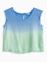 Splendid Girl Dip Dye Frayed Edge Top