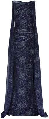 Talbot Runhof Cape Detail Bonoso Gown