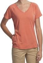 Woolrich Eureka Springs Stretch Jersey T-Shirt - UPF 50+, V-Neck, Short Sleeve (For Women)