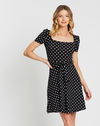 Dorothy Perkins Spot Square Neck Dress