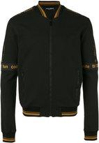 Dolce & Gabbana iconic banded bomber jacket - men - Cotton/Polyamide/Spandex/Elastane - 50