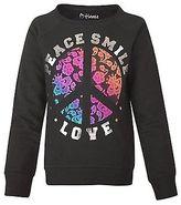 Hanes Girls' Lacey Peace Crewneck Sweatshirt
