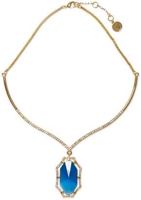 Blue Jewel-framed Stone Collar