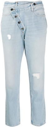 Frame Exposed Overlap Jeans