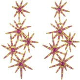 Oscar de la Renta Crystal Fireworks Earrings
