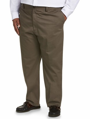 Amazon Essentials Men's Big & Tall Relaxed-fit Wrinkle-Resistant Flat-Front Chino Pant fit by DXL