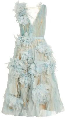 Marchesa Textured Midi Dress