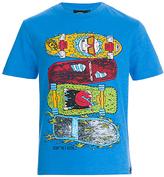 Animal Boys' Skateboard Graphic T-Shirt, Blue