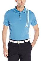 J. Lindeberg Men's Tyr Regular Fit Tx Jersey Golf Polo Shirt, Navy Melange