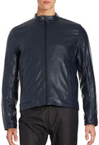 Calvin Klein Perforated Faux Leather Item Jacket