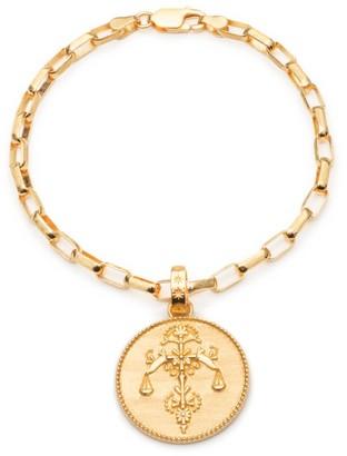 Rachel Jackson London Statement Zodiac Art Coin Libra Bracelet Gold