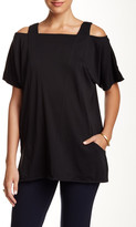Joan Vass Cold Shoulder Tunic