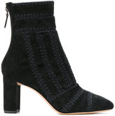 Alexandre Birman zipped embroidered boots - women - Leather/Suede - 36