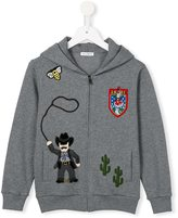 Dolce & Gabbana Western patch hoodie - kids - Cotton - 2 yrs