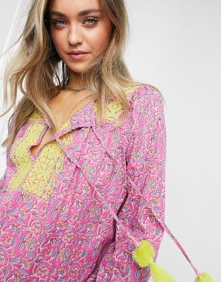 J.Crew J. Crew embroidered cotton voile top in pink