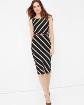 White House Black Market Diagonal Stripe Sheath Dress