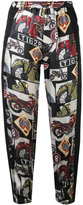Hache printed cropped trousers - women - viscose - 38
