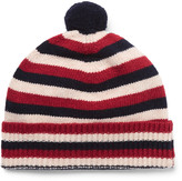 Oliver Spencer - Striped Wool Bobble Hat