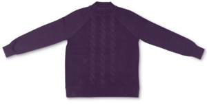 Karen Scott Cotton Cable-Knit Mock-Neck Sweater, Created for Macy's