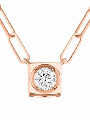 Dinh Van Le Cube 18K Rose Gold & Diamond Large Pendant Necklace