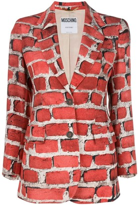 Moschino Pre-Owned 1997 Brick Wall blazer