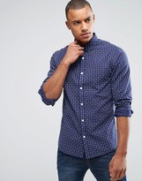 ONLY & SONS Shirt in Slim with All Over Jacquard