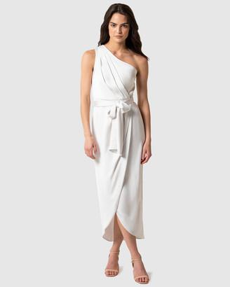 Forever New Chloe One Shoulder Midi Dress