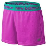 New Balance Girls Performance Core Shorts Pink