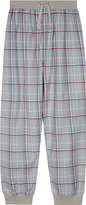 The Little White Company Checked cotton lounge pants 7-12 years
