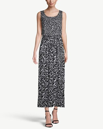 Chico's Sleeveless Printed Tie-Waist Maxi Dress