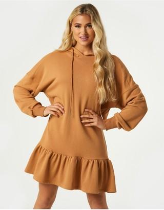 Little Mistress Manoe Camel Pephem Hoodie Sweatshirt Dress