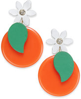 Kate Spade Gold-Tone Citrus Flower Drop Earrings