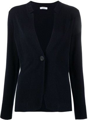 Peserico V-neck button-fastening cardigan