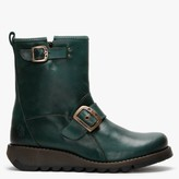 Fly London Sino Petrol Leather Ankle Boots