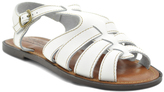Sbicca White Issa Leather Sandal