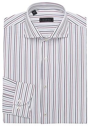 Saks Fifth Avenue MODERN Vertical Stripe Cotton Dress Shirt