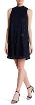 Marina Sequin Lace Mock Neck Dress