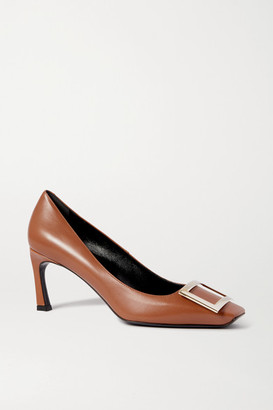 Roger Vivier Belle Vivier Trompette Leather Pumps