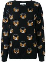 Moschino teddy jacquard jumper