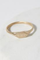 Vanessa Lianne Jewelry Womens 14K P.DIAMOND SIGNET RING