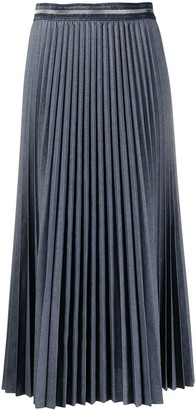 Luisa Cerano Pleated Midi Skirt