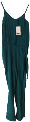 Comptoir des Cotonniers Green Silk Jumpsuit for Women