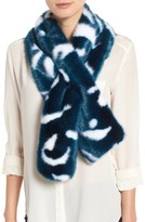 Ted Baker Women's Colorblock Faux Fur Scarf