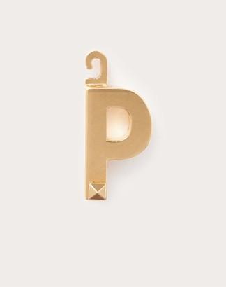 "Valentino Garavani Call Me p"" Charm Women Gold Brass 100% OneSize"