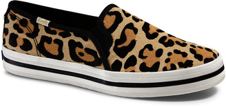 Keds x kate spade double decker leopard slip-on sneakers