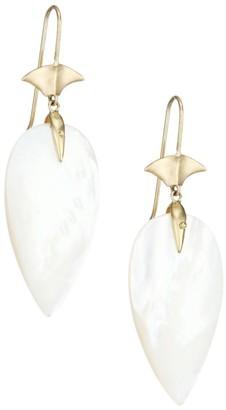 Annette Ferdinandsen 14K Yellow Gold & Mother-Of-Pearl Arrowhead Earrings