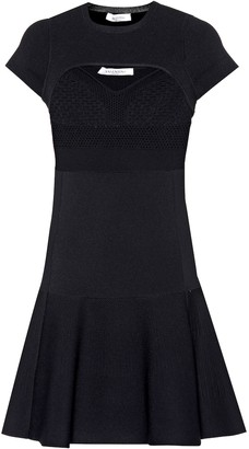 Valentino Cutout stretch-knit minidress
